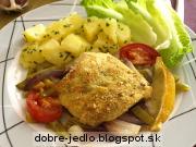 Treska s pečenou zeleninou - recept