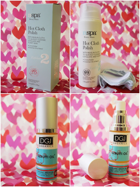 Image of N Spa Hot Cloth Polish and DGJ Organics Berutti hair oil