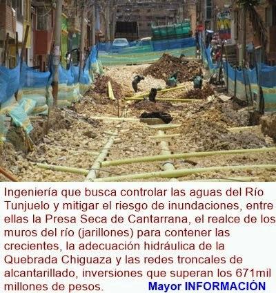 BOGOTÁ: Modernizan redes de alcantarillado para frenar inundaciones en Tunjuelito