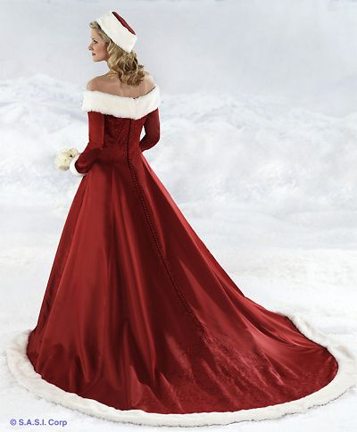 Christmas Wedding Dress Designer
