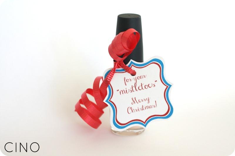 Mistletoes Nail Polish Gift Idea