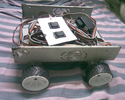 remote controlled robot with control and SMPS