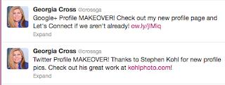 Georgia Cross Twitter | personal brand