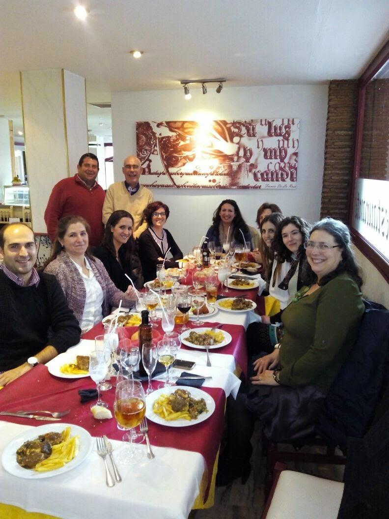 Fotos comida navidad. Asociación lupus Granada
