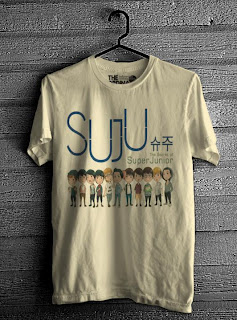 kaos super junior online murah kuning