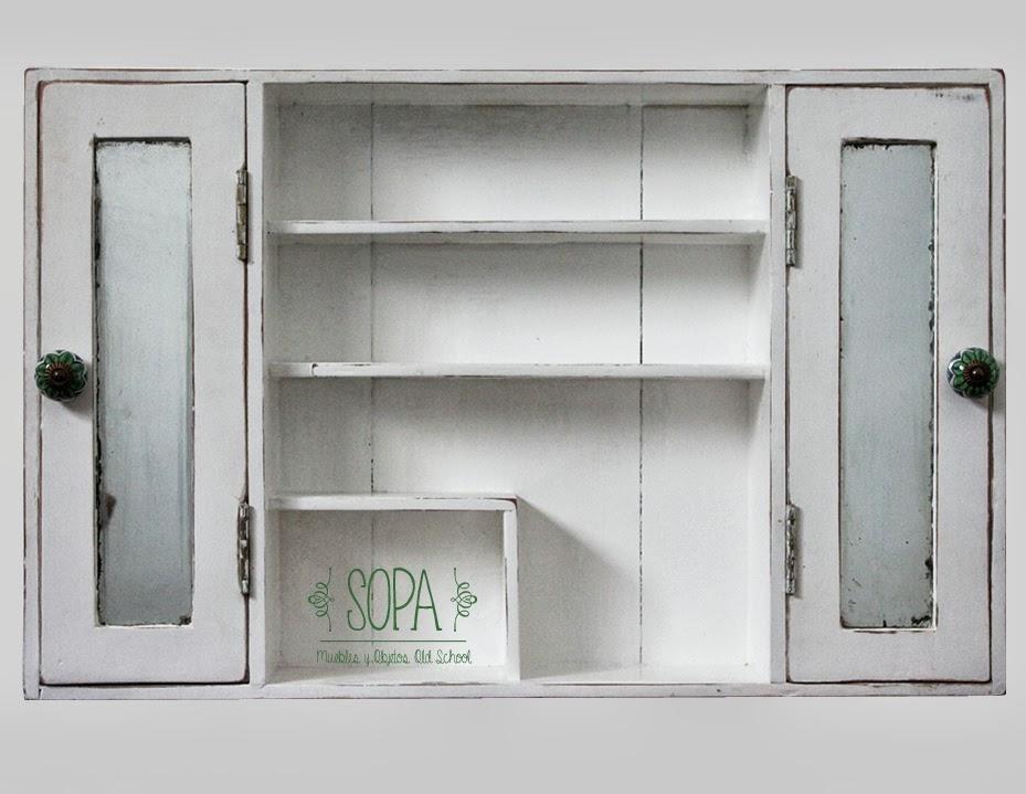 Sopa muebles y objetos old school botiqu n estanter a r stica - Botiquin antiguo ...