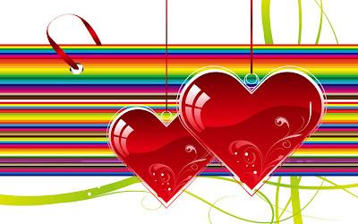 Crvena srca kao ukrasi ljubavne slike