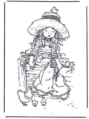 LAMINAS PARA COLOREAR - COLORING PAGES: Sarah Kay para dibujar y pintar