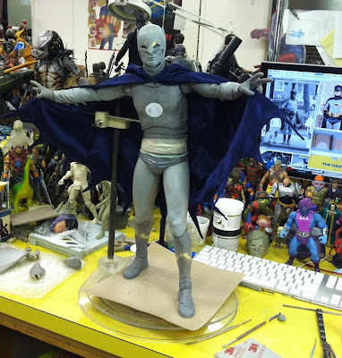 NECA 1/4 Scale 1966 Adam West Batman Figure - Work in Progress Pictures