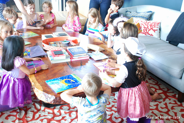 book swap at a birthday party instead of gifts or favors