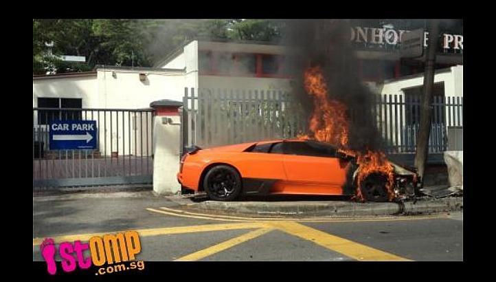 Sg Exotic Spotter Lamborghini Murcielago Crashed Outside