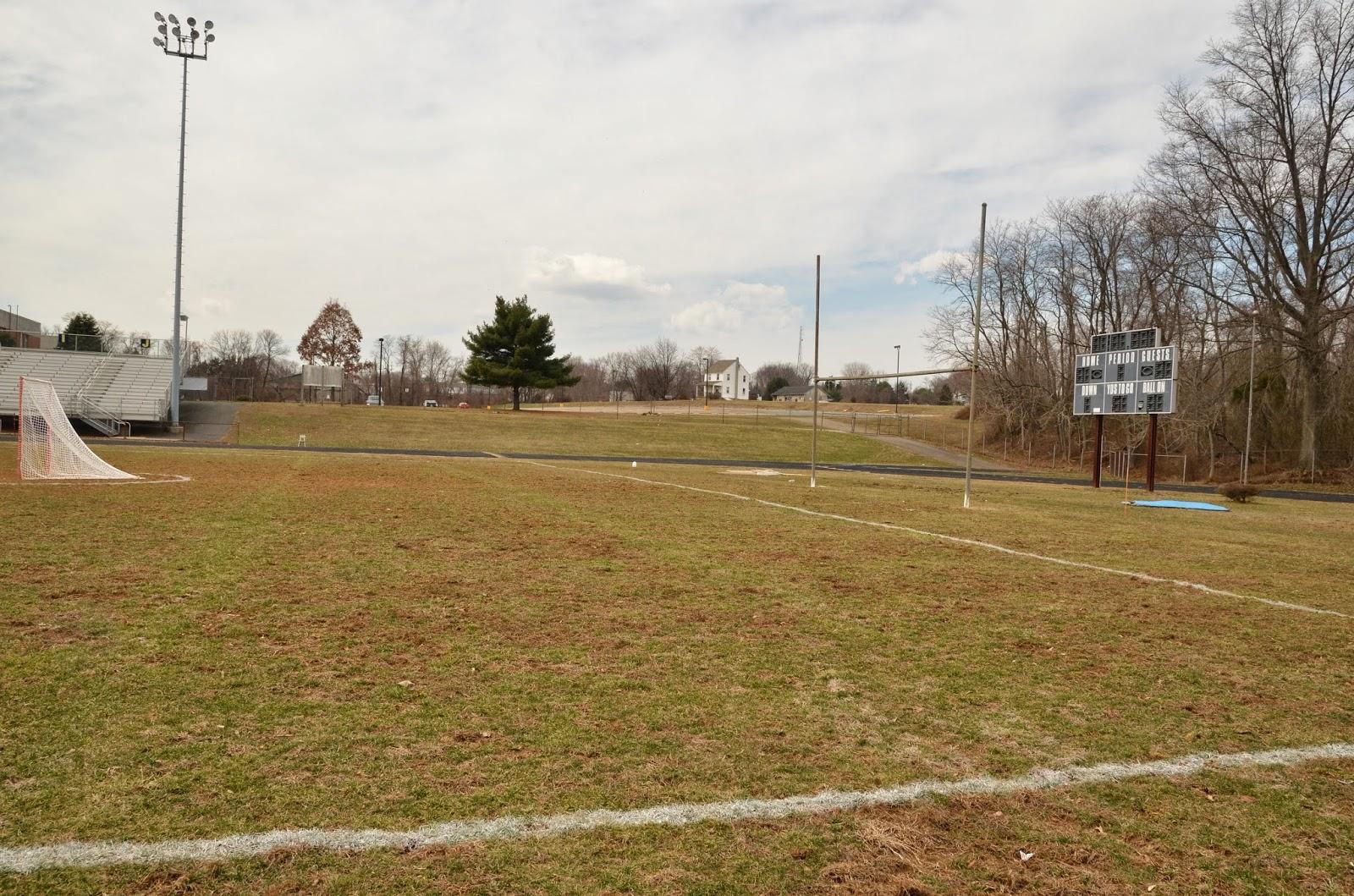 Field behind lacrosse goal