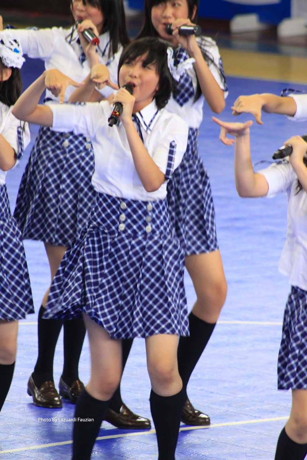 Ghaida JKT48 perform at pocary sweat futsal