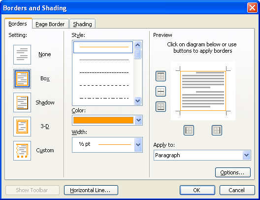 Change Page Border Color In Word 2003 Microsoft Office How To Change The Color Of Page In Ms Word