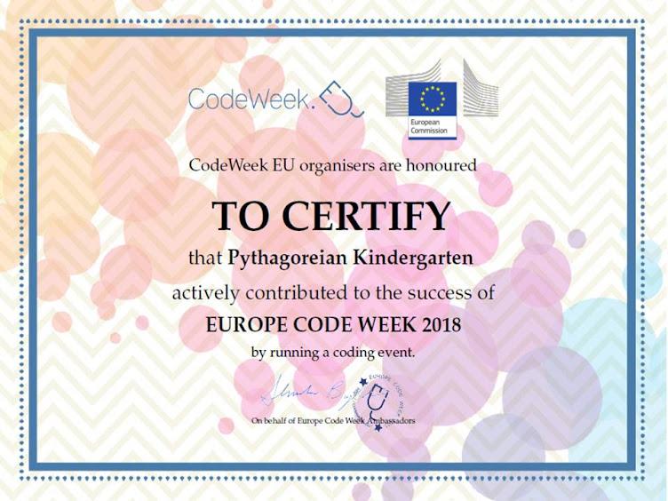 Συμμετοχή στο Europe Code Week με τη ρομποτική μέλισσα