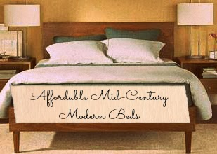 super affordable mid century modern style beds