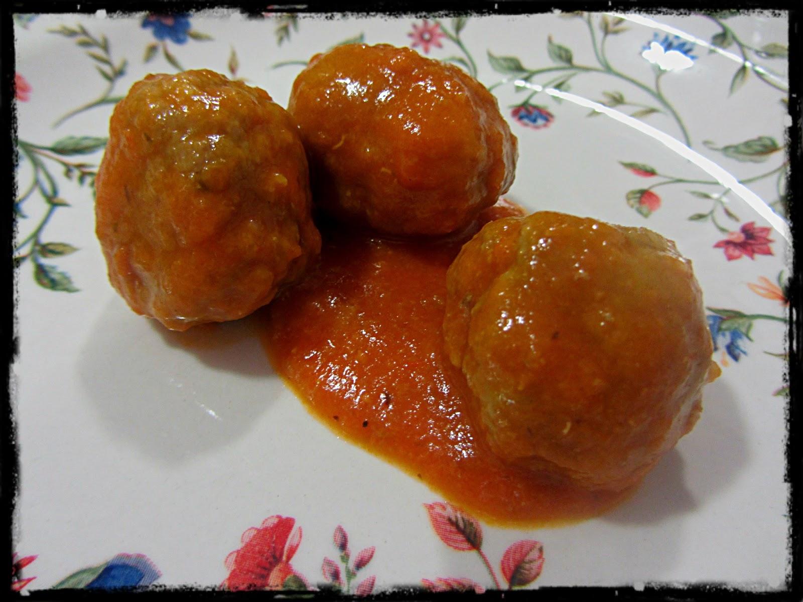 Alb ndigas de carne y arroz en salsa de tomate casera - Guarnicion para albondigas ...