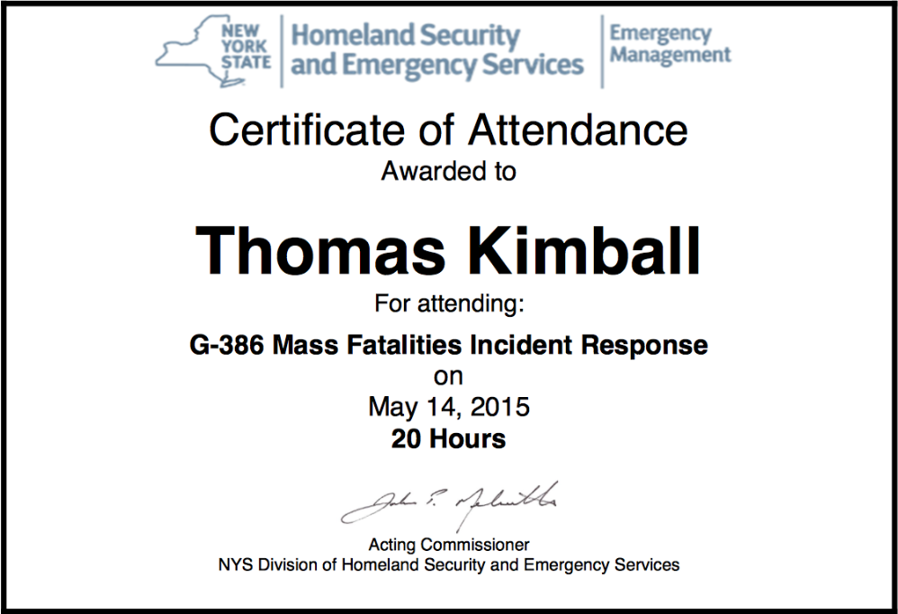 G-386 - Mass Fatalities Incident Response