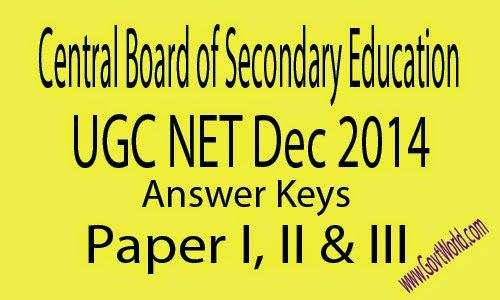 CBSE UGC NET Answer Key 2017