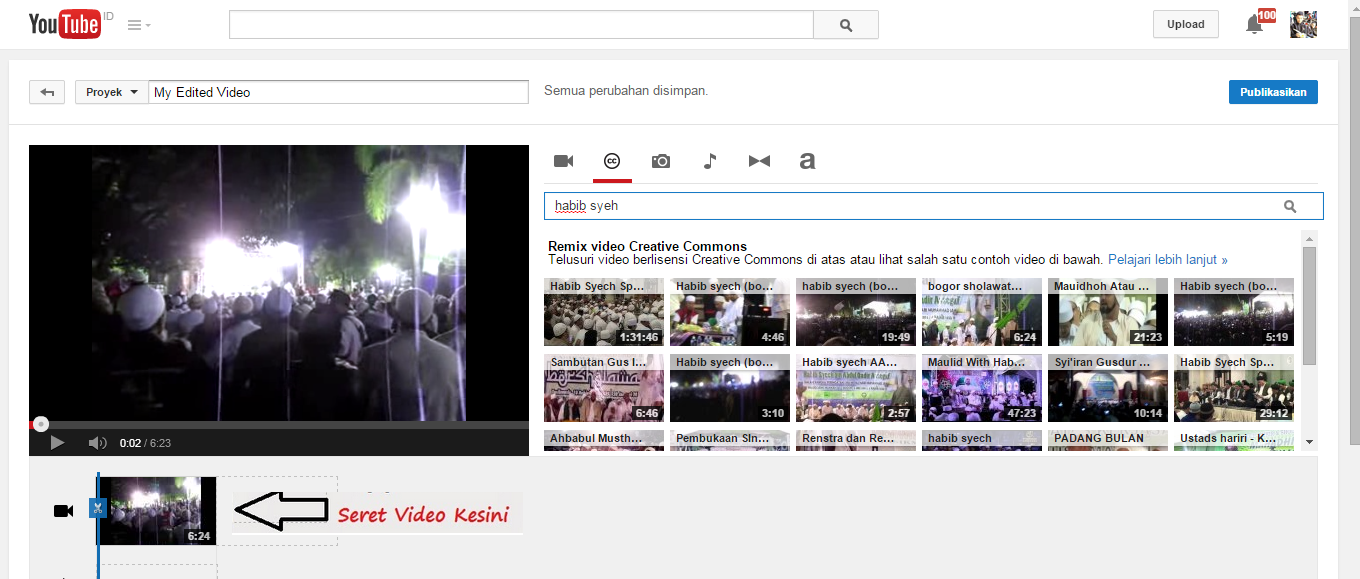 Cara Terbaru remix video Youtube 2014