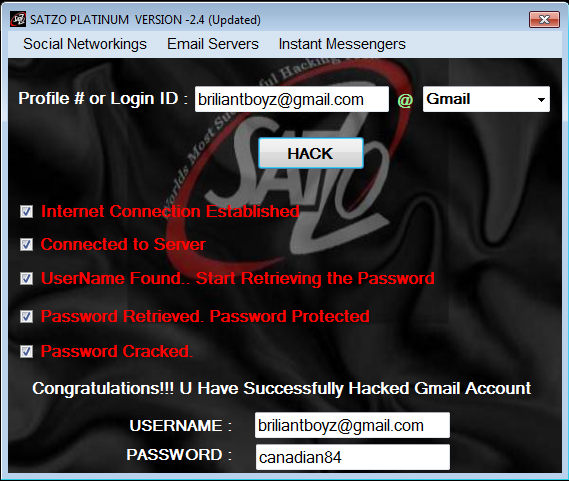 software for hacking yahoo password