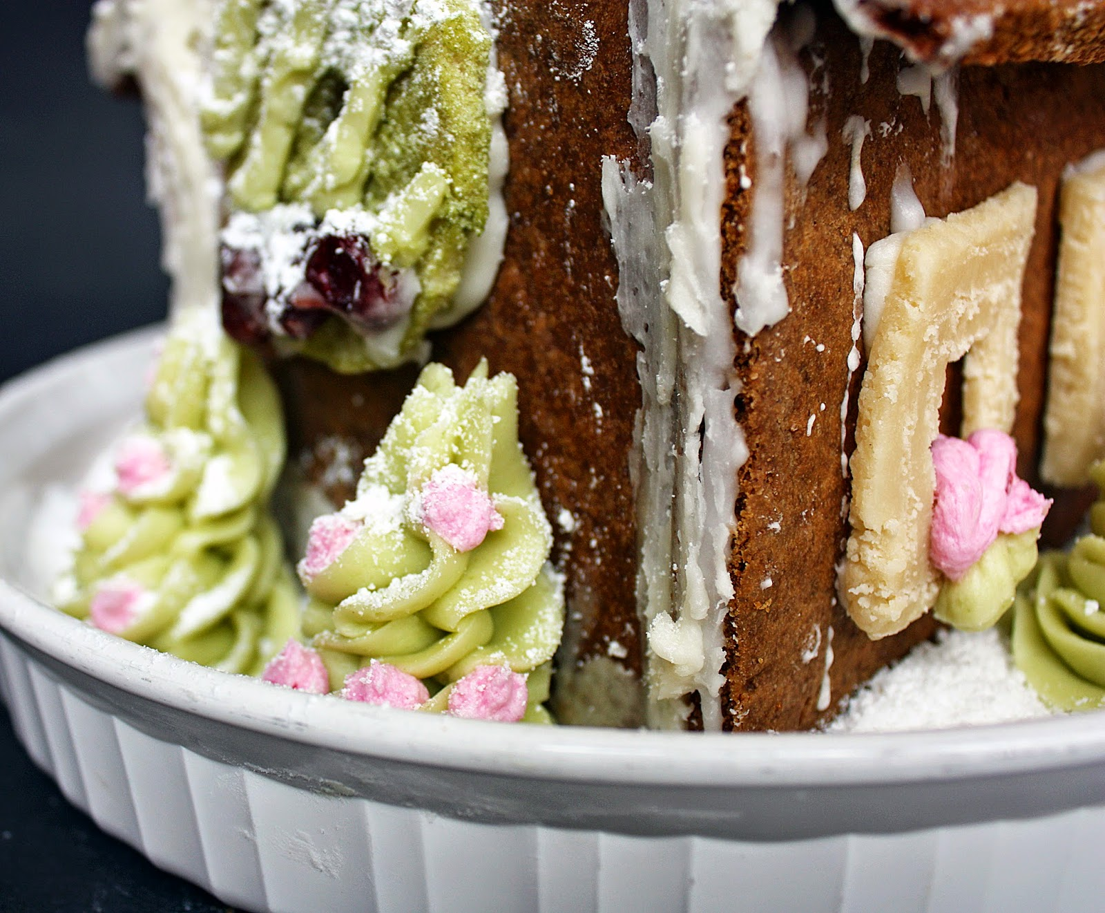 homemade vegan gingerbread house