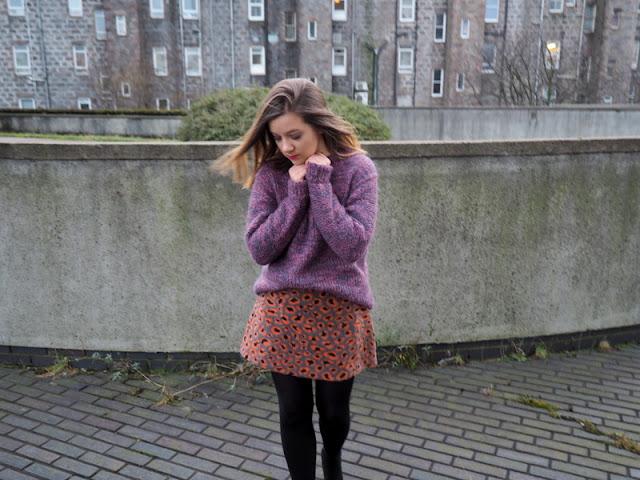 Topshop Fluffy Leopard Skirt