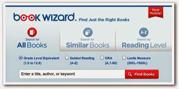 level the books in your classroom library with Scholastic Book Wizard