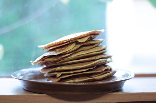stack of pancakes, refrigerator pancakes