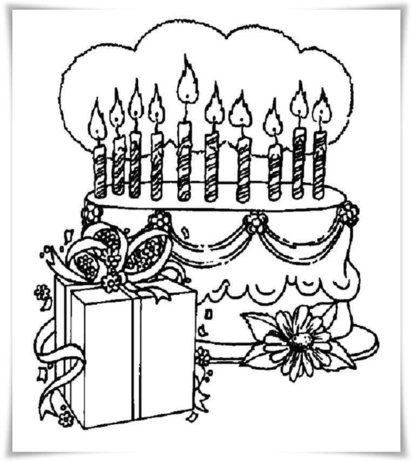 Malvorlagen für den Geburtstag