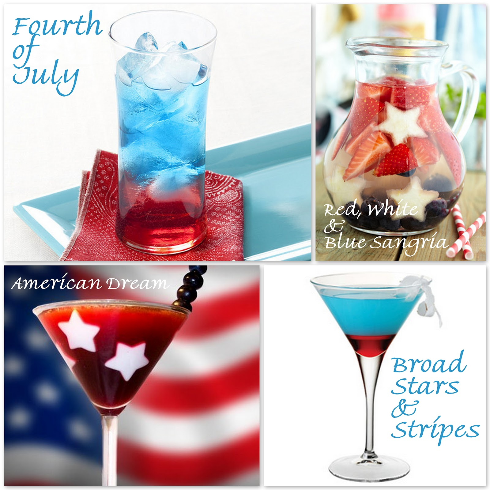 fourth of july cocktails non alcoholic drinks