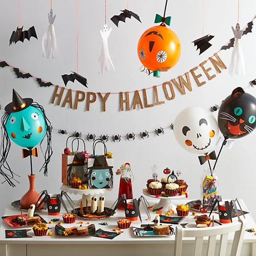 decoración Halloween globos DIY