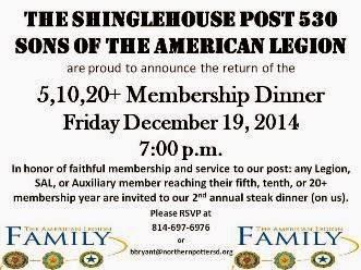 12-19 Membership Dinner Post 530