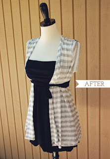 sew a summer vest from a Tshirt