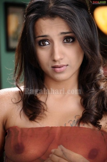 Trisha Krishnan Hot Boobs Show