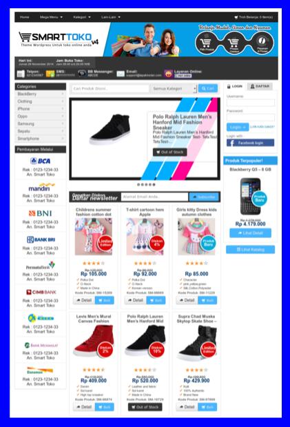 Template toko online sepatu