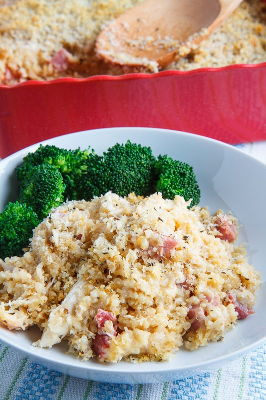 Chicken Cordon Bleu Quinoa Casserole