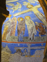 Frescoes of Karanlik Kilise Church, Goreme Open Air Museum, Cappadocia, Turkey