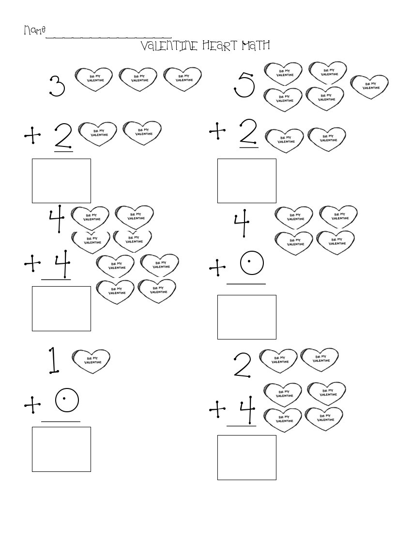 math worksheet : the art of teaching a kindergarten blog valentine math worksheet : Valentine Kindergarten Worksheets
