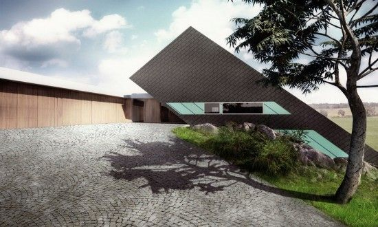 House design collection mobius architects modern house on for Hillside architecture