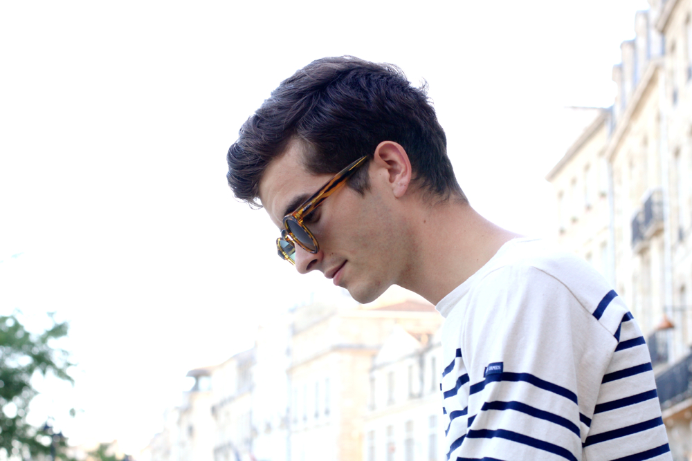BLOG-MODE-HOMME_Preppy-bordeaux-paris_mariniere_saint-james_mocassins-glands-armando-cabral_loafers_komono-lunettes_sunglasses-cheap-monday-mince-skinny2