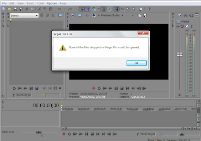 How To Fix None of the files dropped on Sony Vegas Pro Could be opened Error