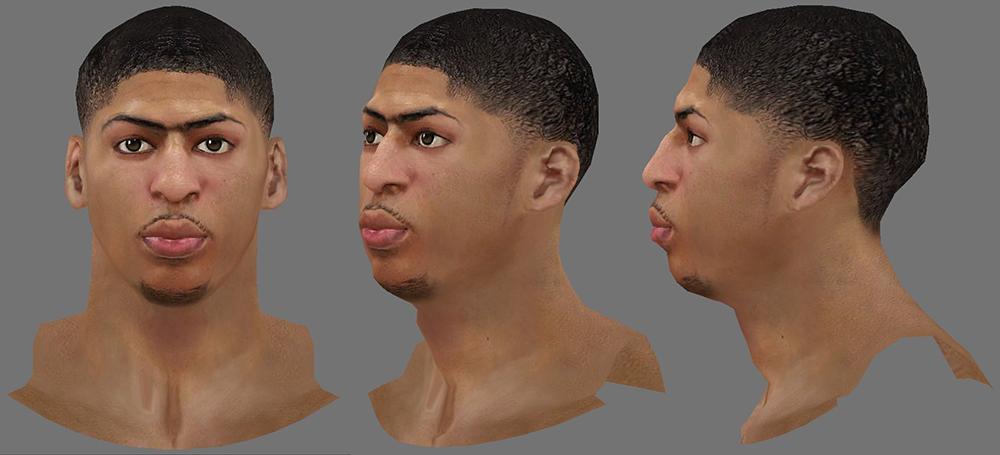 NBA 2K14 Anthony Davis Next-Gen Face Mod
