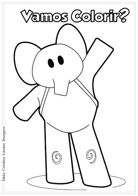 Amiga do Pocoyo - Elly para colorir