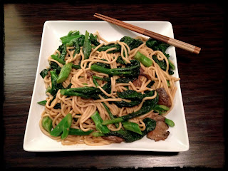 Recipe: Gai lan and oyster mushroom noodle stir-fry