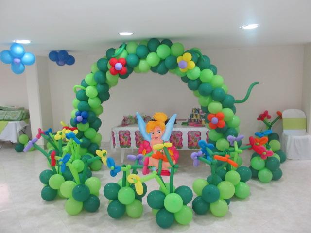 con globos para fiestas infantiles de campanita medellin para