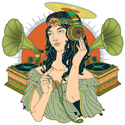 analog lady, an audiophile and patron saint of records