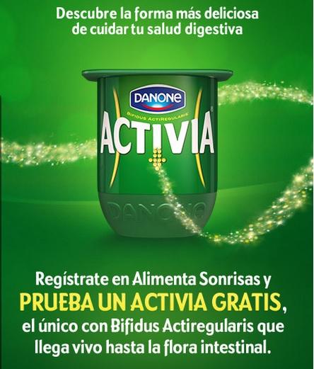 Muestra gratuitas de yogurt activia