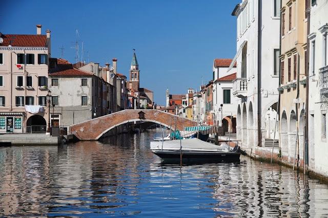 Fotografia dei canali di Chioggia