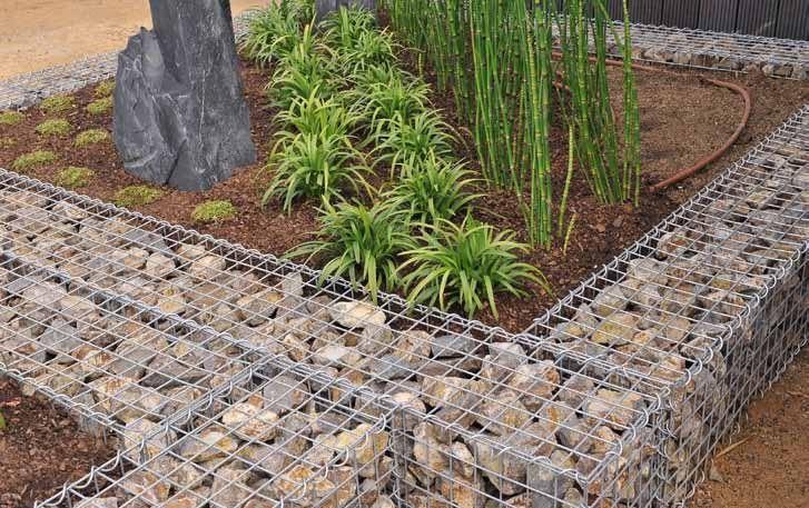 gaviones decorativos de piedra paredes medida gavionesinterior Muros de gavión se resisten a la rotura y separación, debido a la  flexibilidad de su construcción de malla de alambre. Pueden soportar el  flujo de golpeteo ...